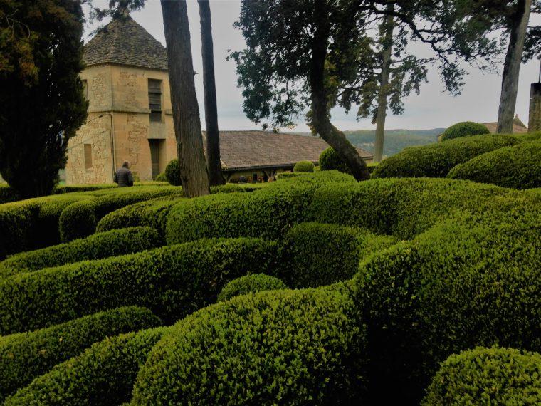 Les allées de buis des jardins de Marqueyssac